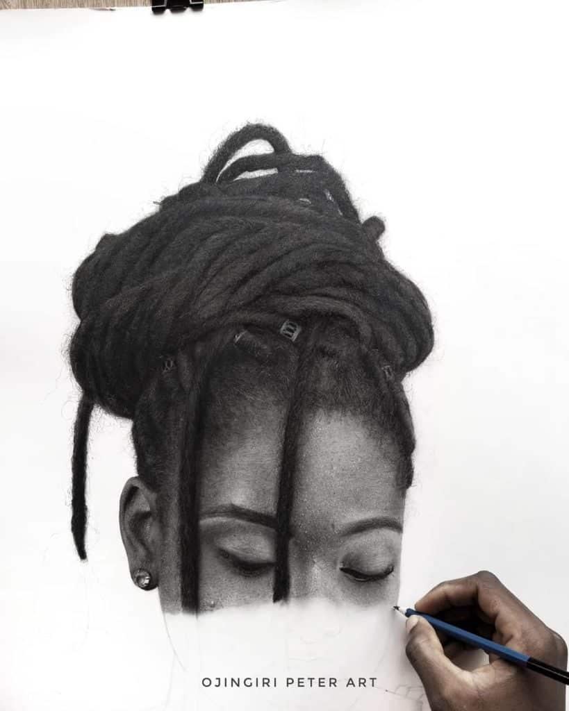 pencil charcoal art