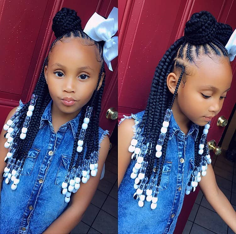 Braids For Kids 50 Kids Braids With Beads Hairstyles