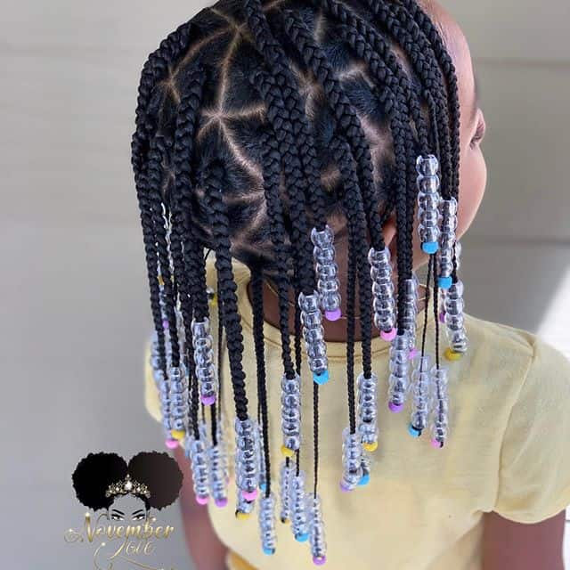 kids box braids with beads
