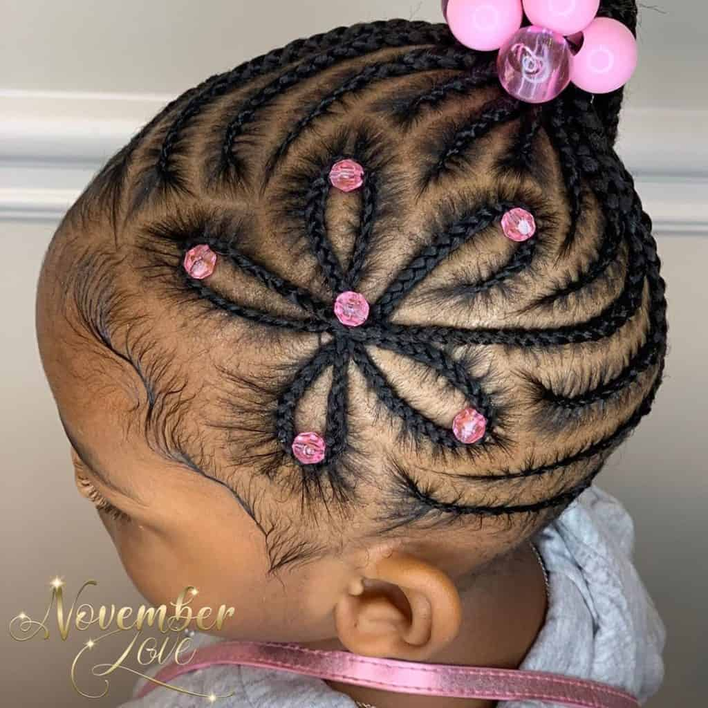 star shape kids braids with beads