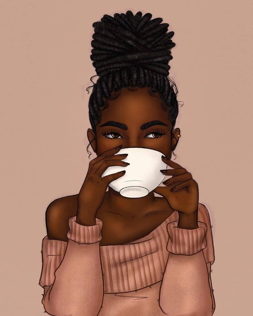 black girl illustration art
