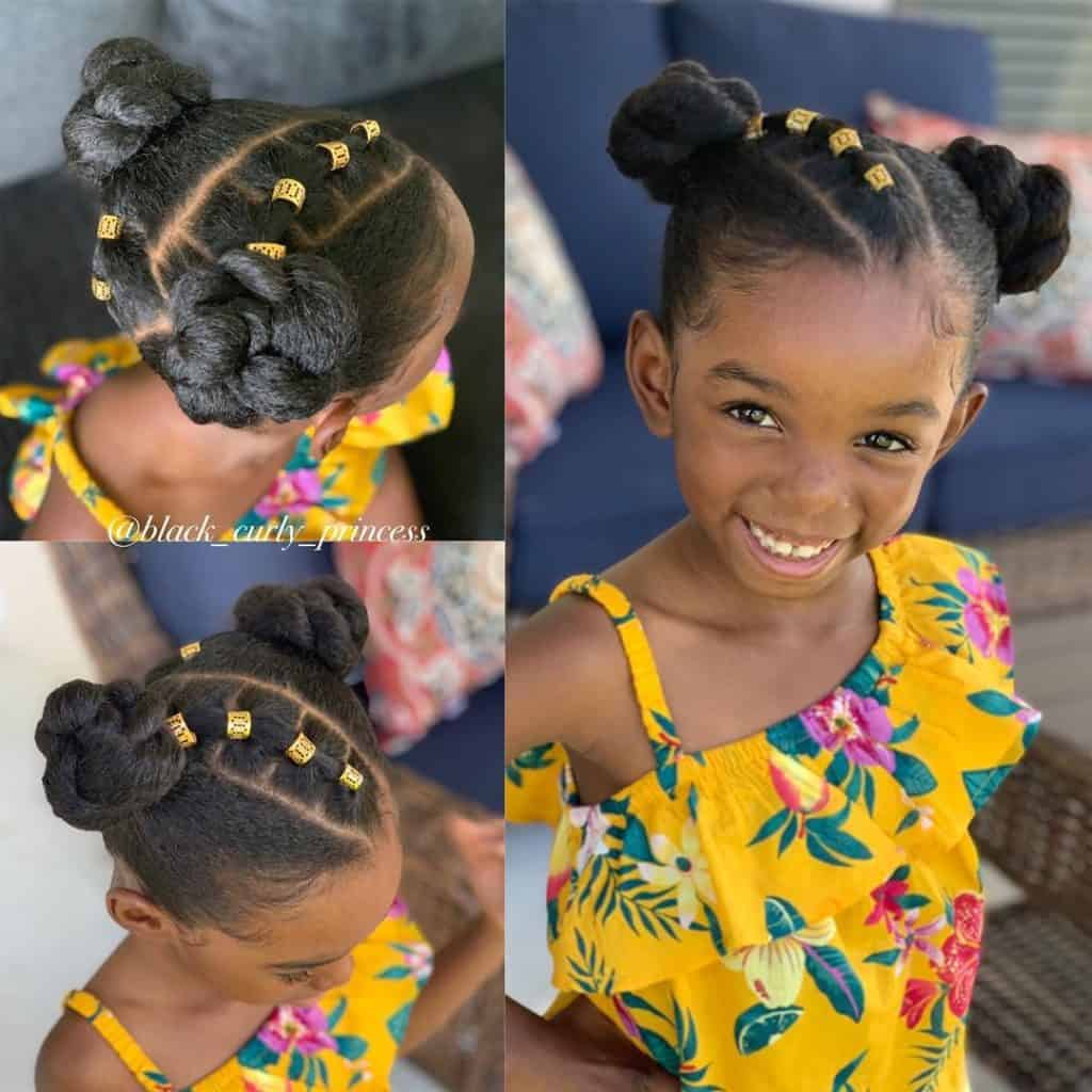 2 braided buns kids hairstyle