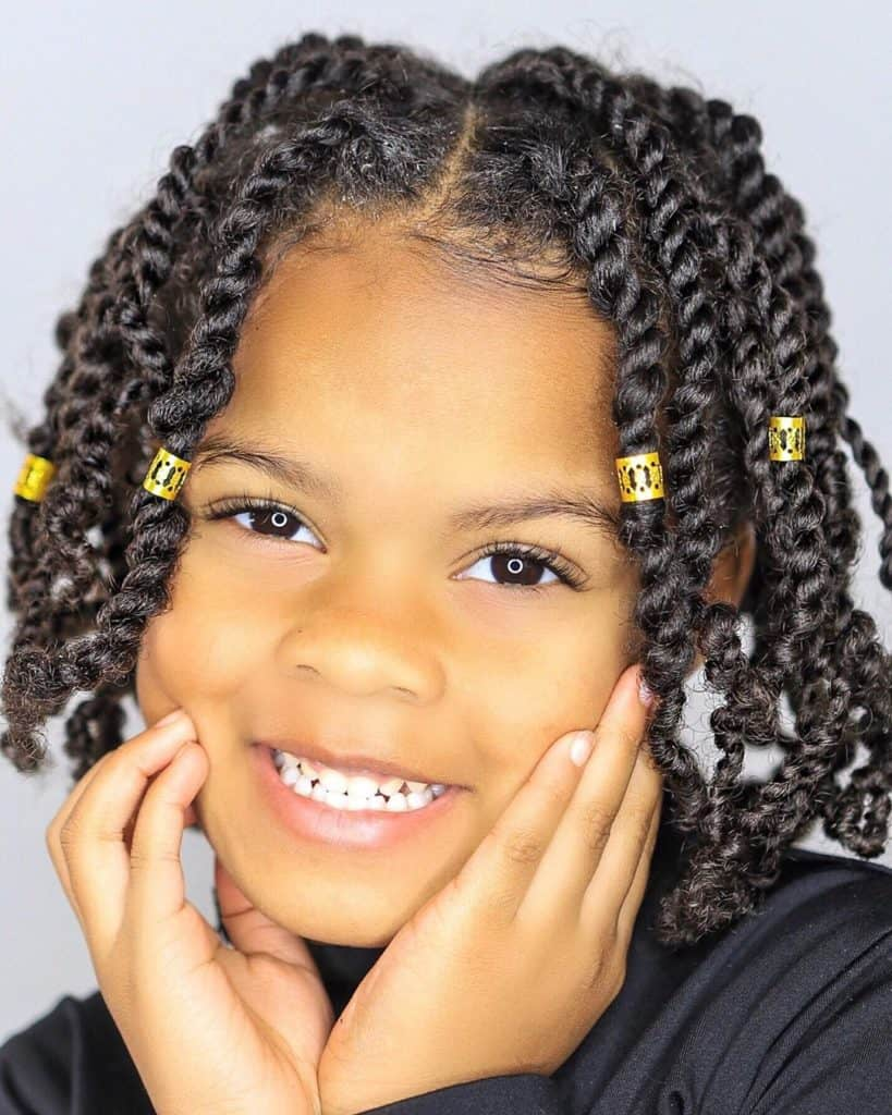 2 strand twists kids natural hairstyle