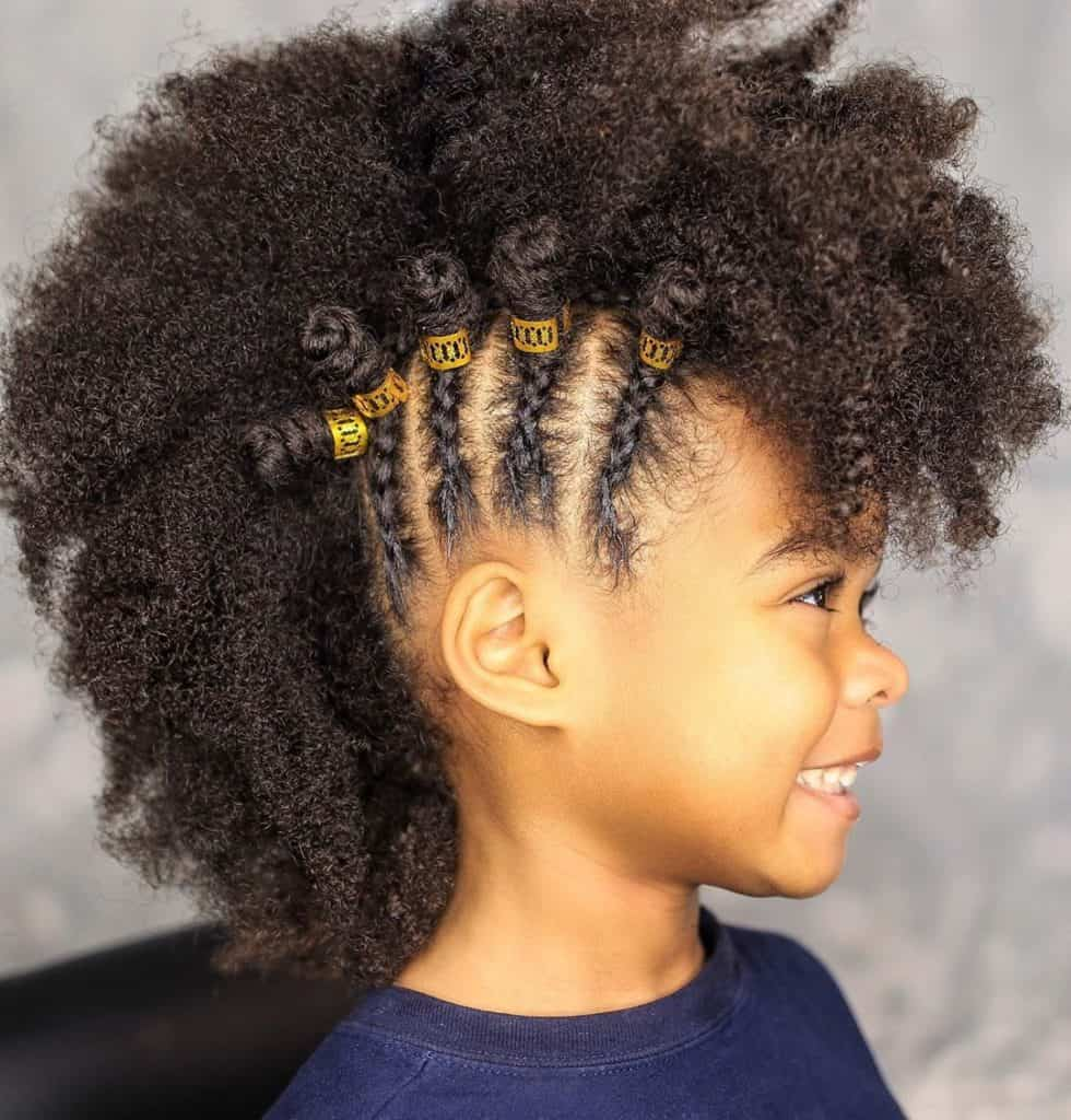 braided mohawk kids natural hairstyle