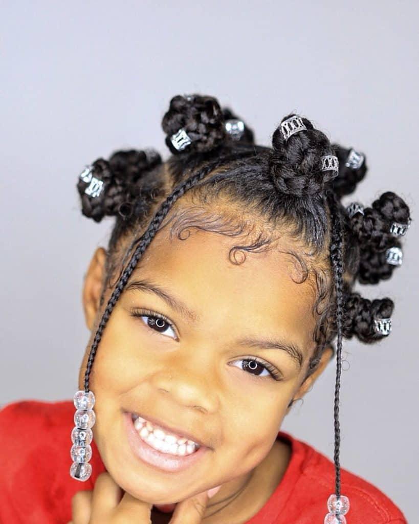 bantu knots on kids