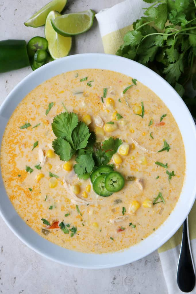 mexican corn and chicken soup