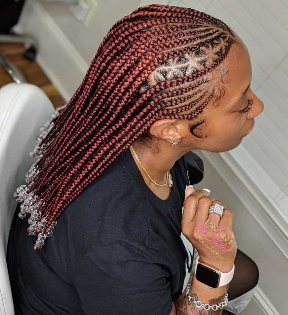cornrow fulani braids