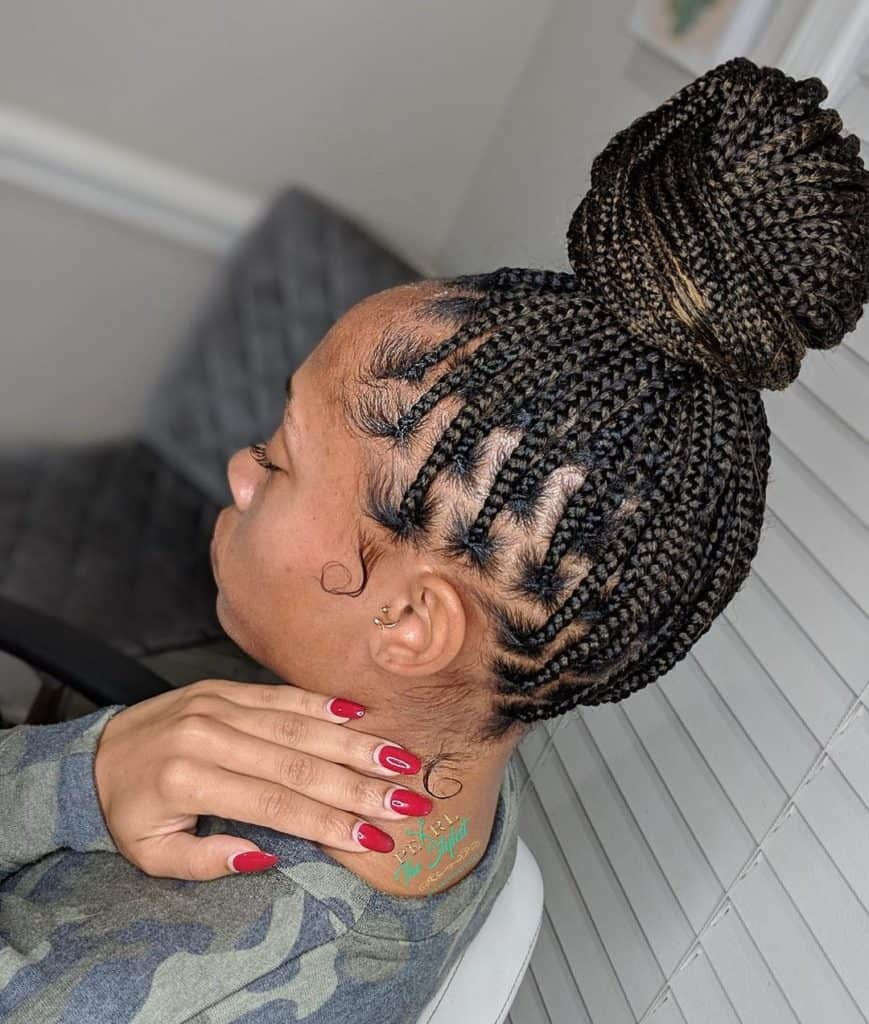 small knotless box braids