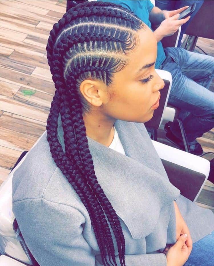 feed in stitch braids cornrows