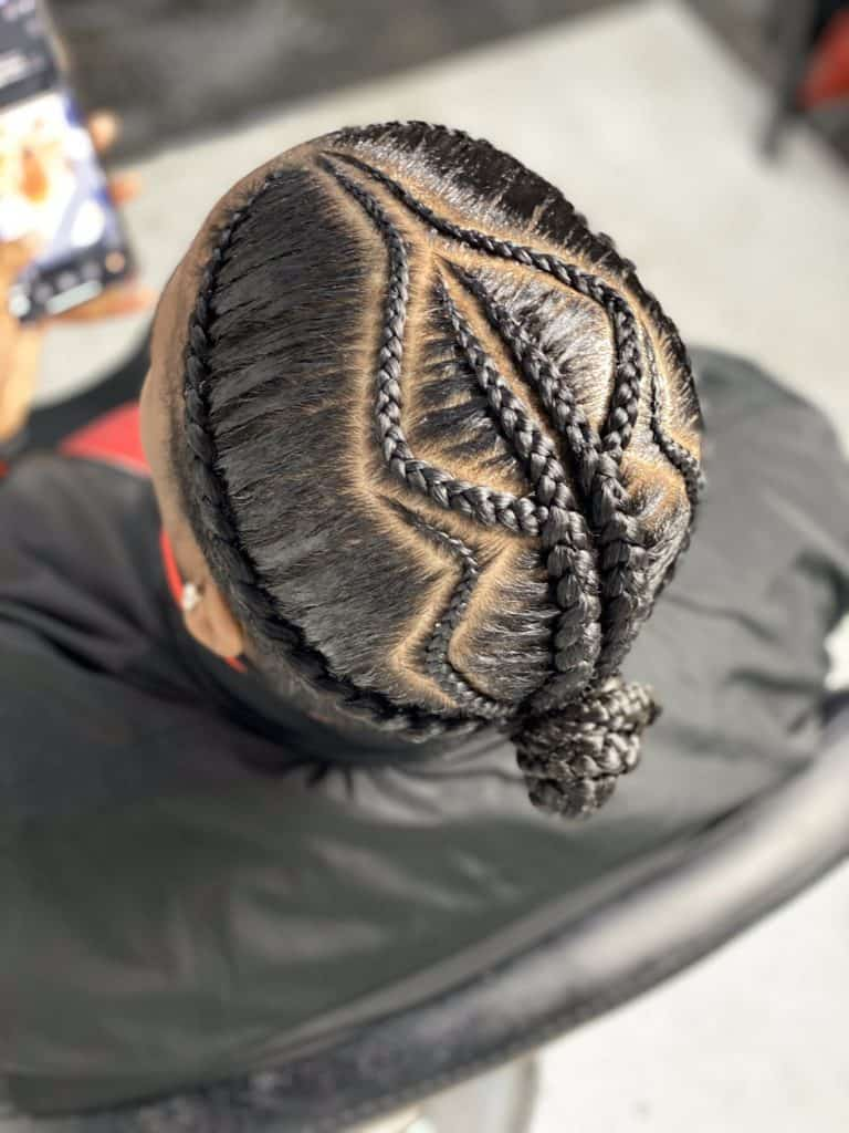 conrows braids for men with intricate patterns