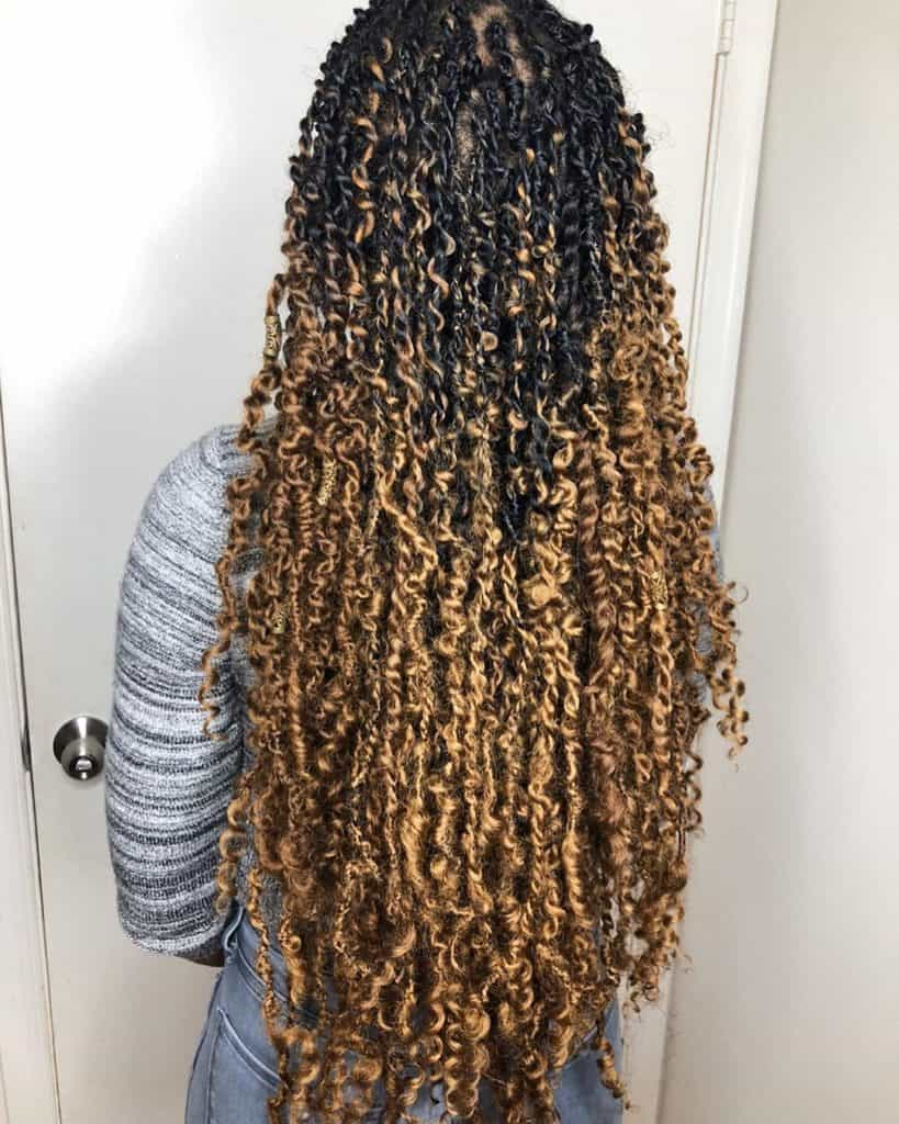 black and blonde passion twists
