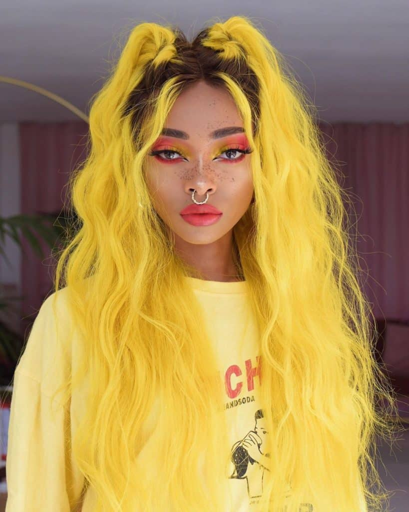 nyane lebajoa yellow hair