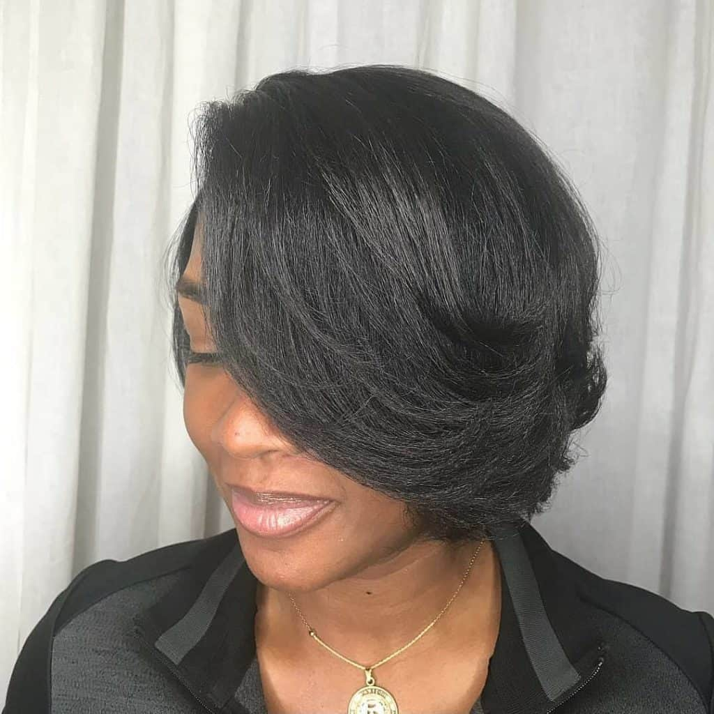 short relaxed hair