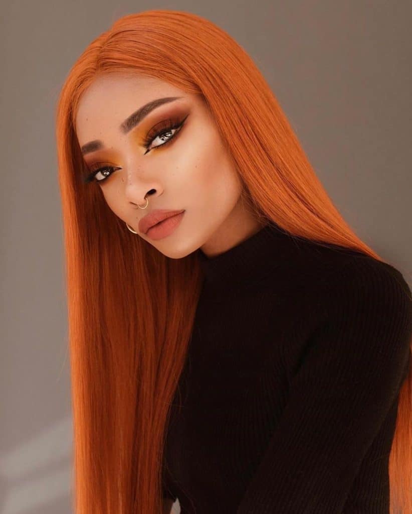 Nyane lebajoa ginger hair and makeup