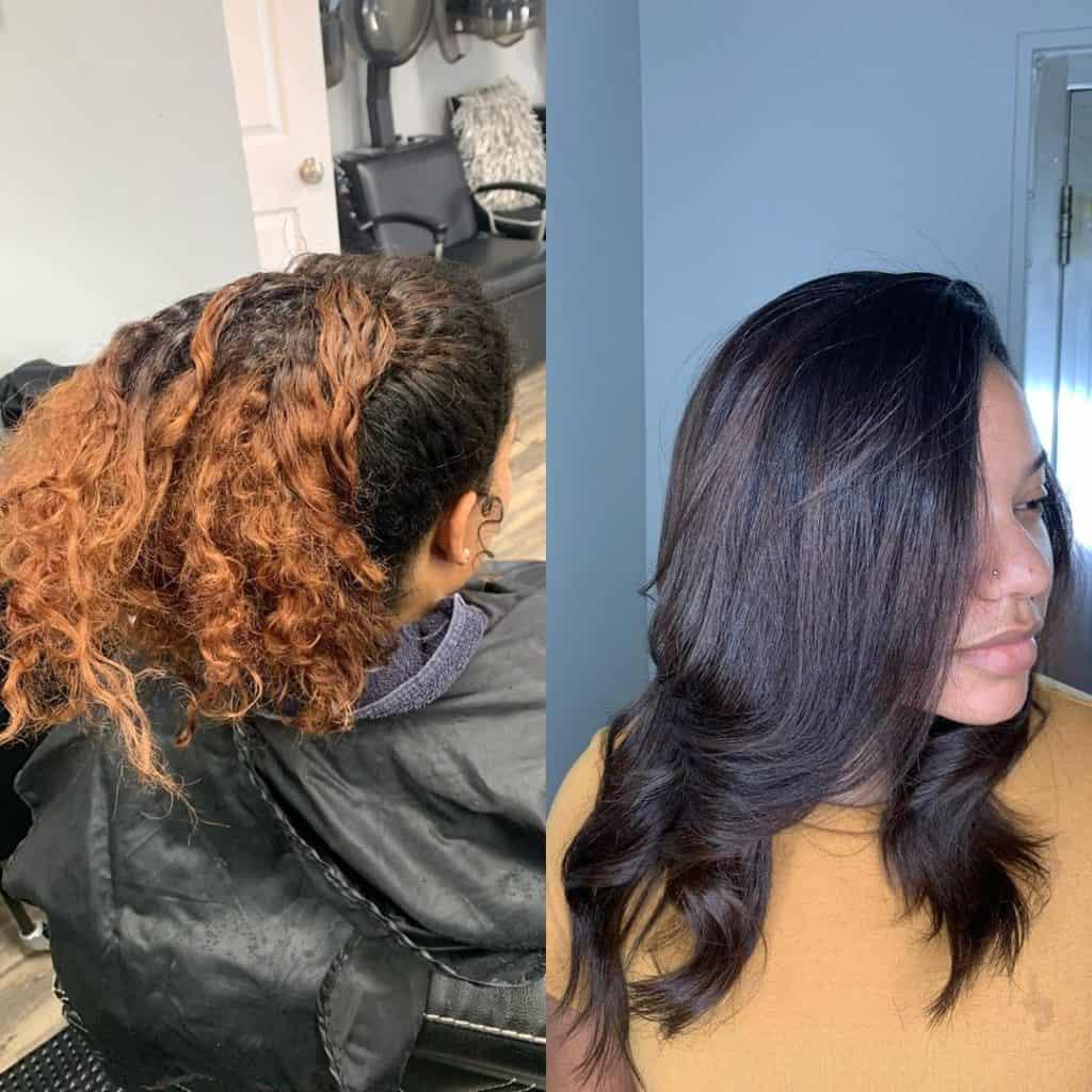 silk press for natural hair
