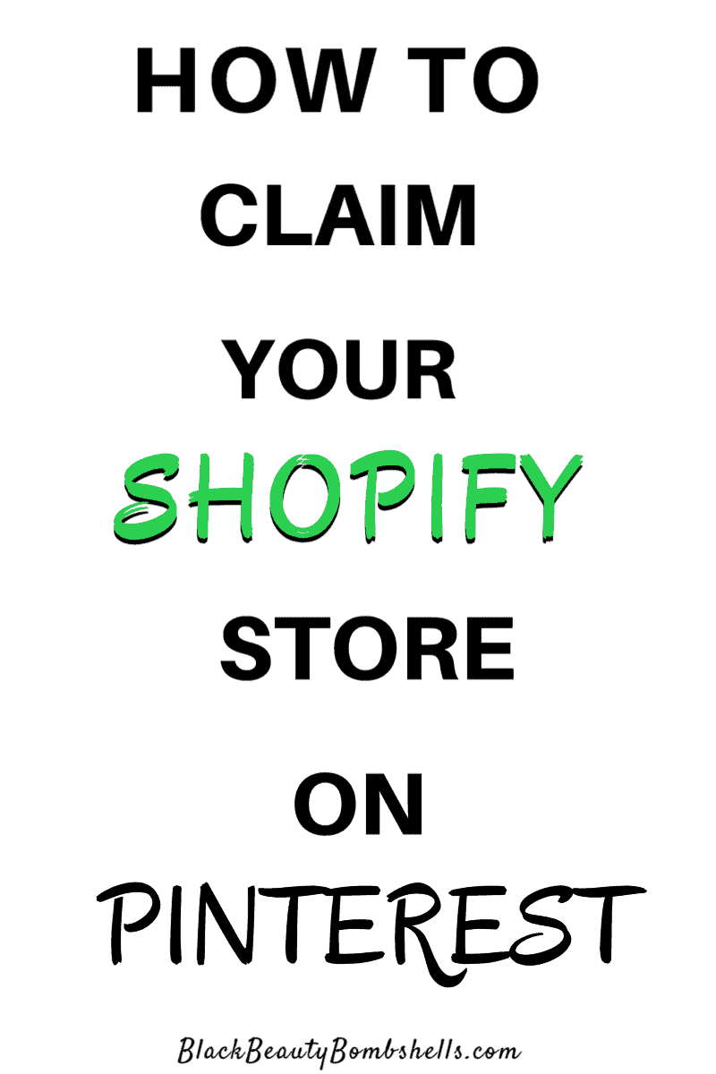 How to Claim your Shopify Website Store on Pinterest