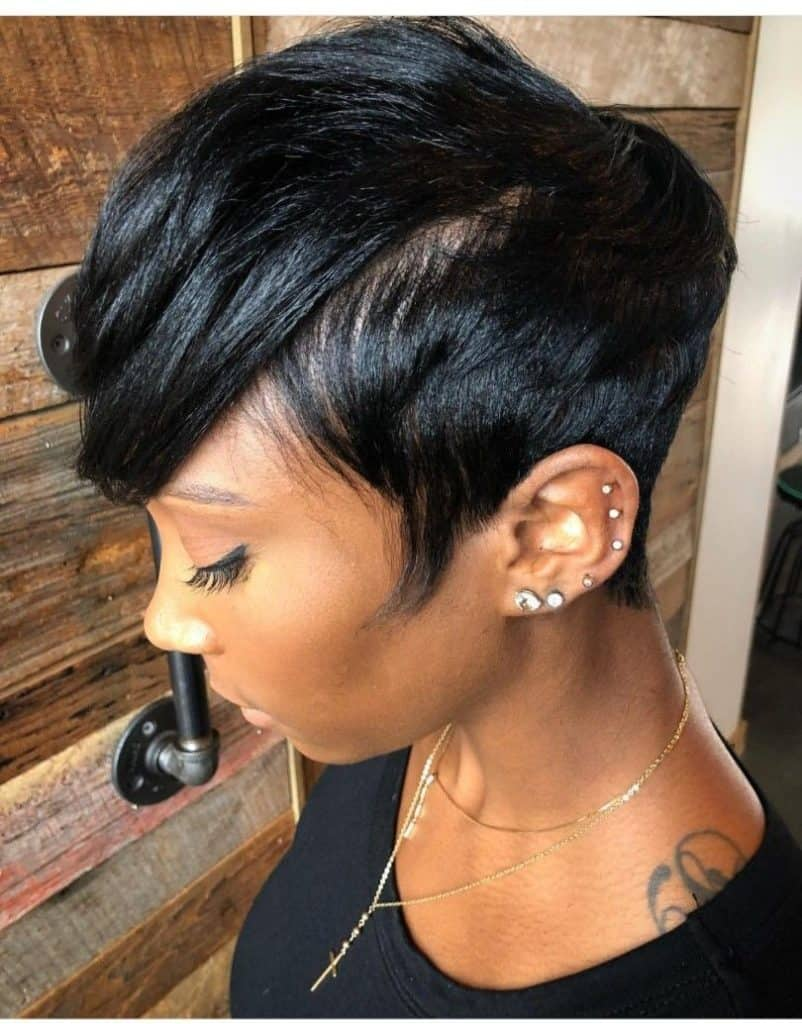 wavy pixie cut black women