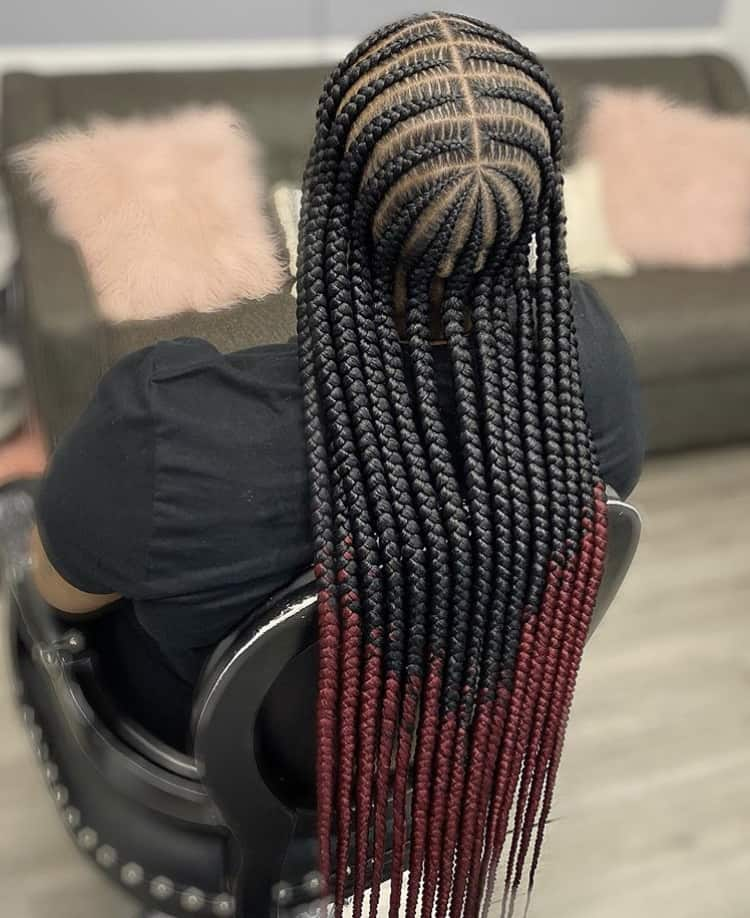 cornrow stitch braids