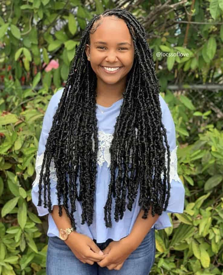 medium bohemian distressed locs
