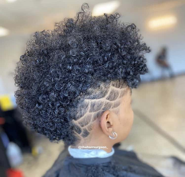 Curly tapered haircut