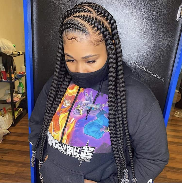 Pop smoke braids with beads