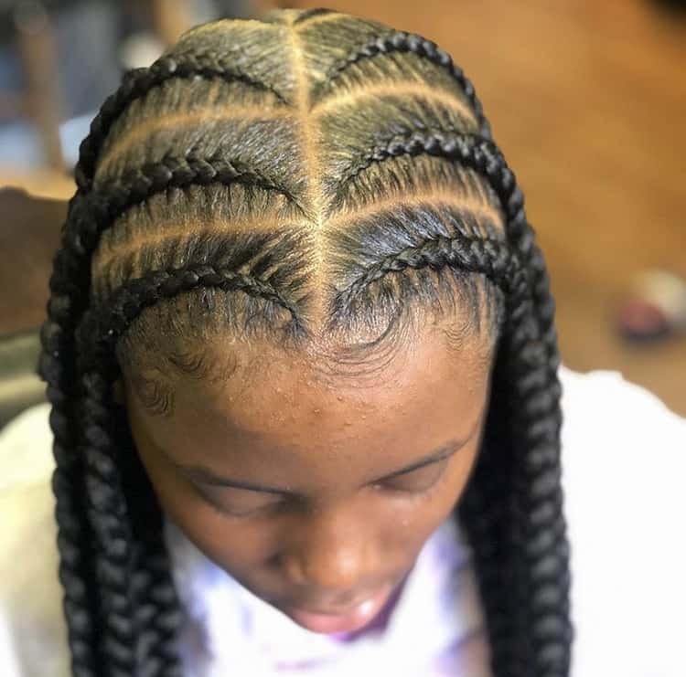 Pop smoke braids for kids