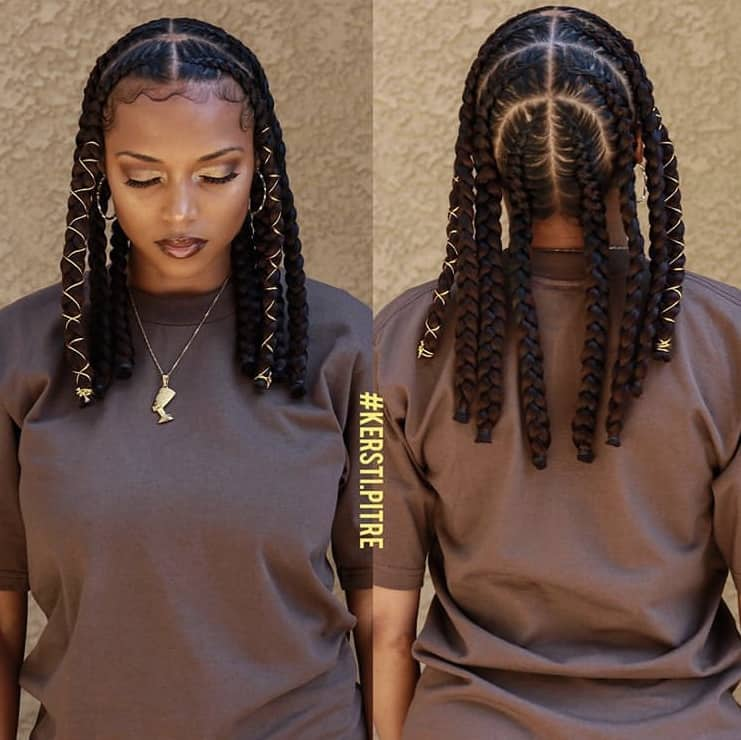 Short pop smoke braids