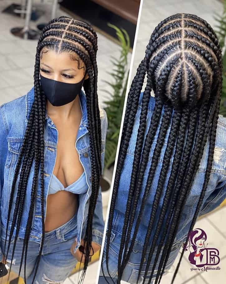 Long pop smoke braids