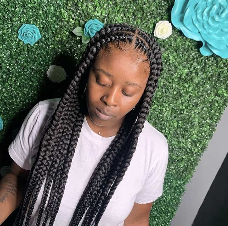 Pop smoke braids hairstyle