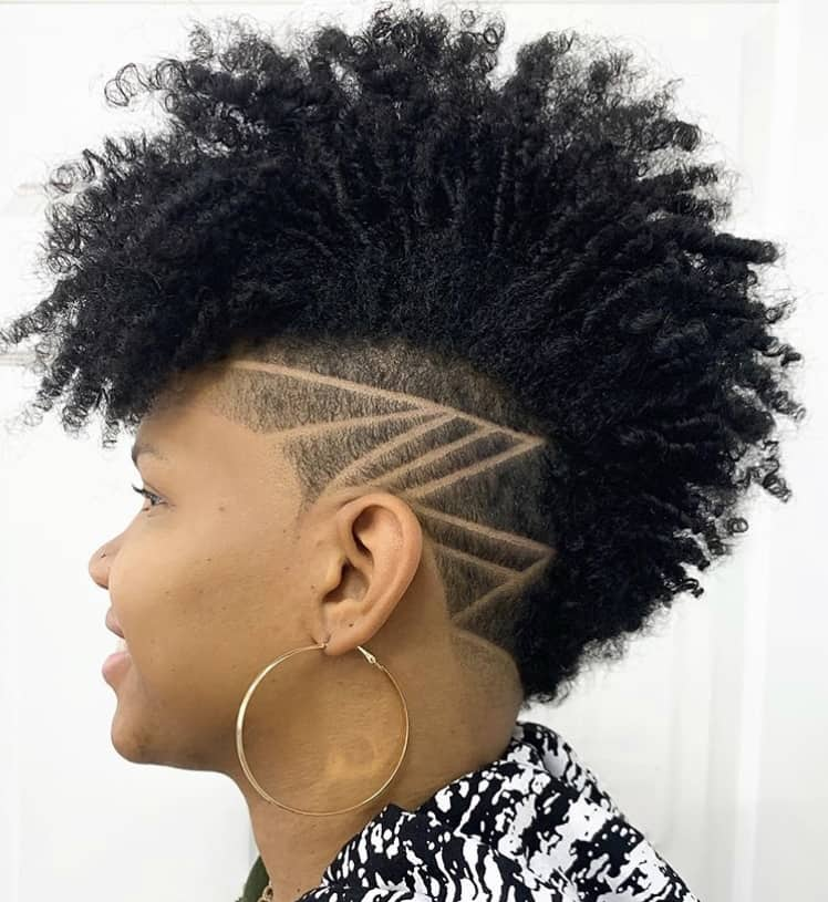 Edgy tapered haircut with an undercut