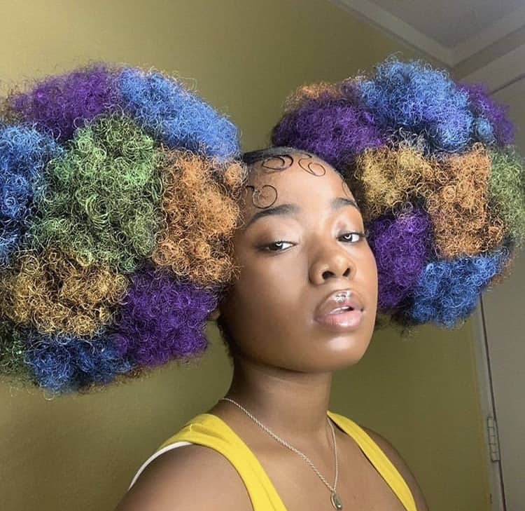Black girl big side puffs