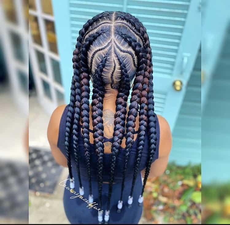 Pop smoke braids with beads