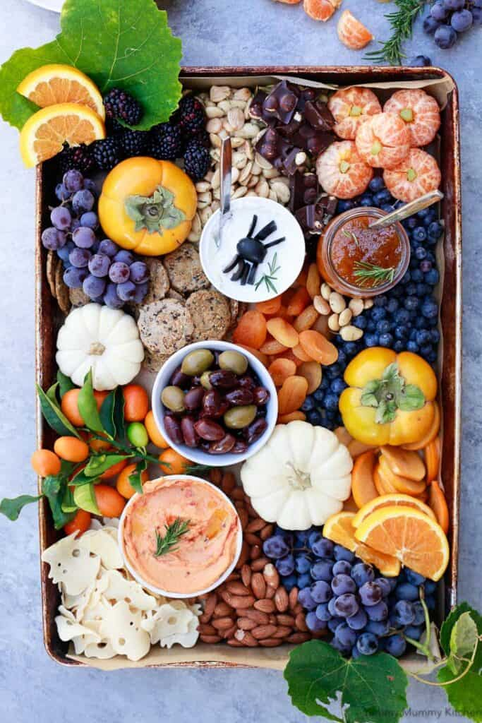Halloween party charcuterie board
