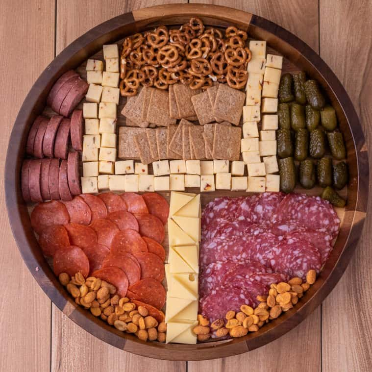 Game day cheese plate