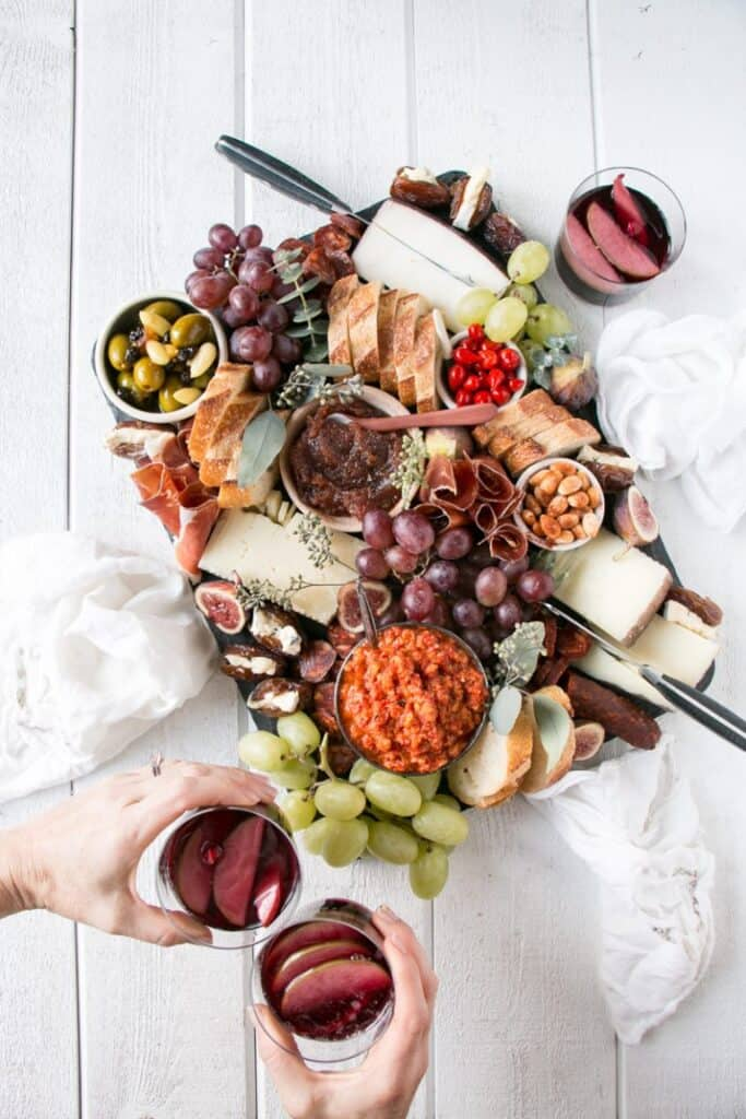Spanish cheese charcuterie board