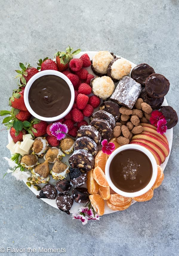 Chocolate dessert charcuterie board