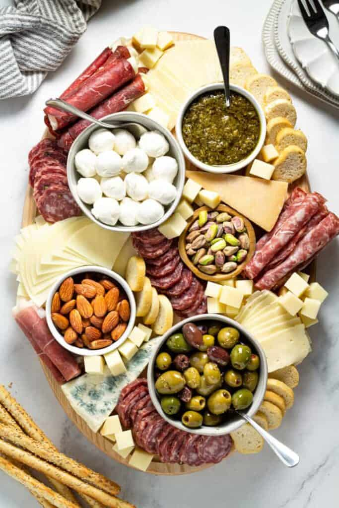 Simple cheese charcuterie board