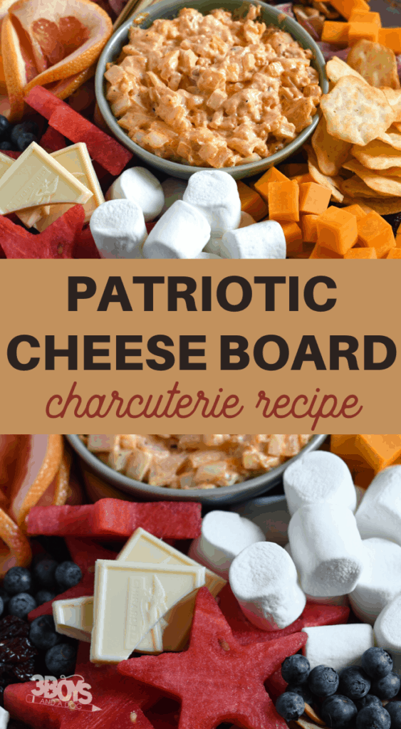 Patriotic cheese charcuterie board