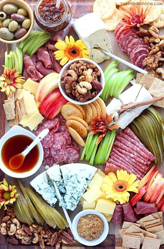 Fall meat and cheese charcuterie board