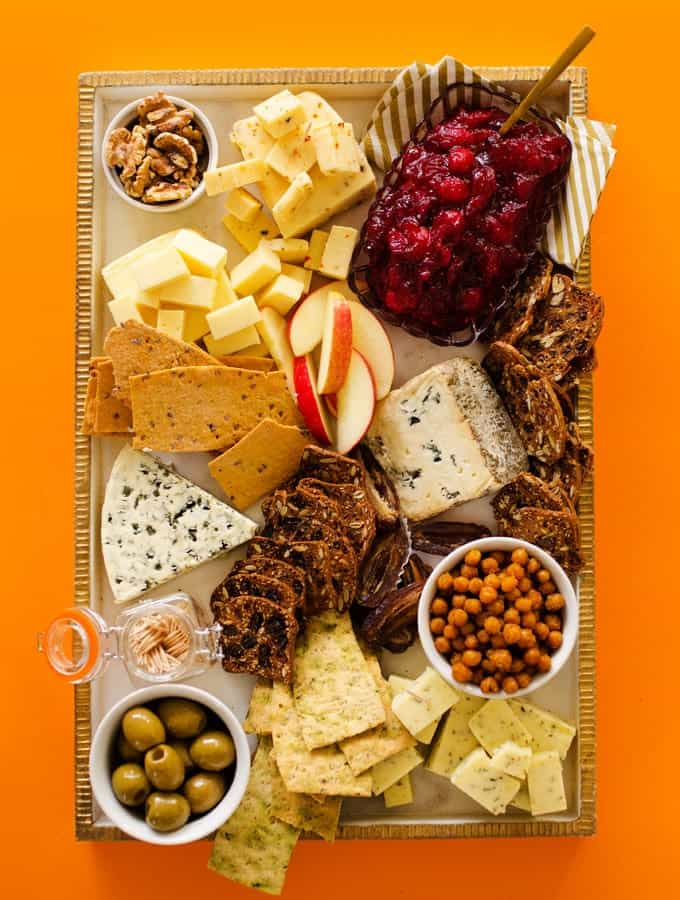 Ultimate vegetarian cheese charcuterie board