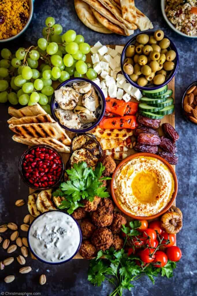Ultimate vegetarian mezze board