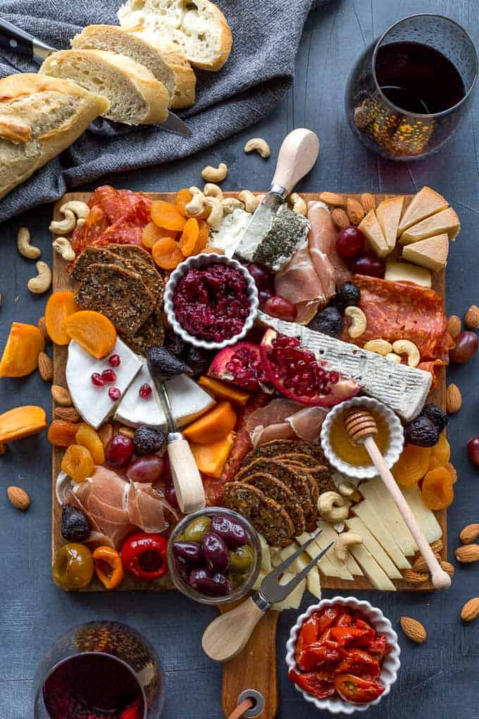 Simple cheese charcuterie appetizer board