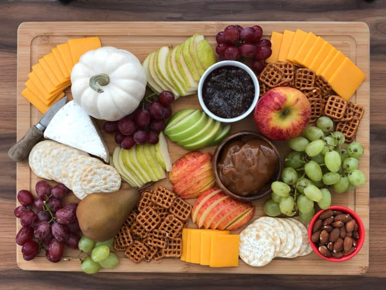 Fall harvest snack charcuterie board