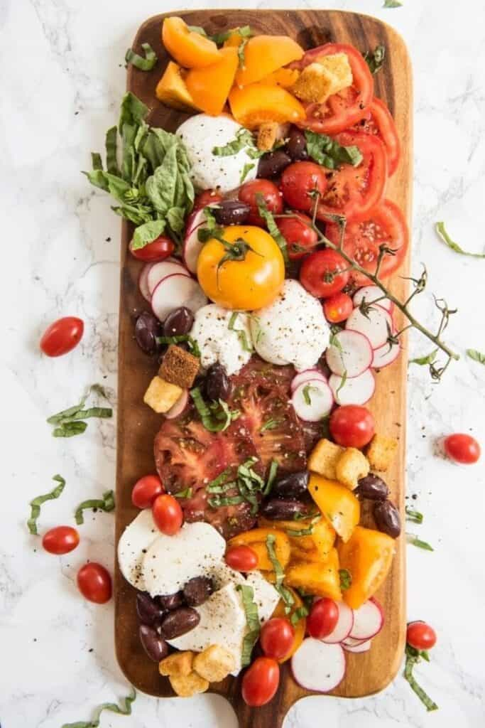 Ultimate caprese salad charcuterie board