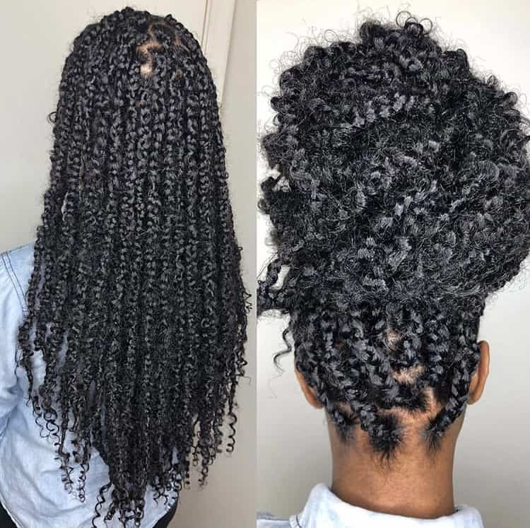 Small to medium knotless passion braids