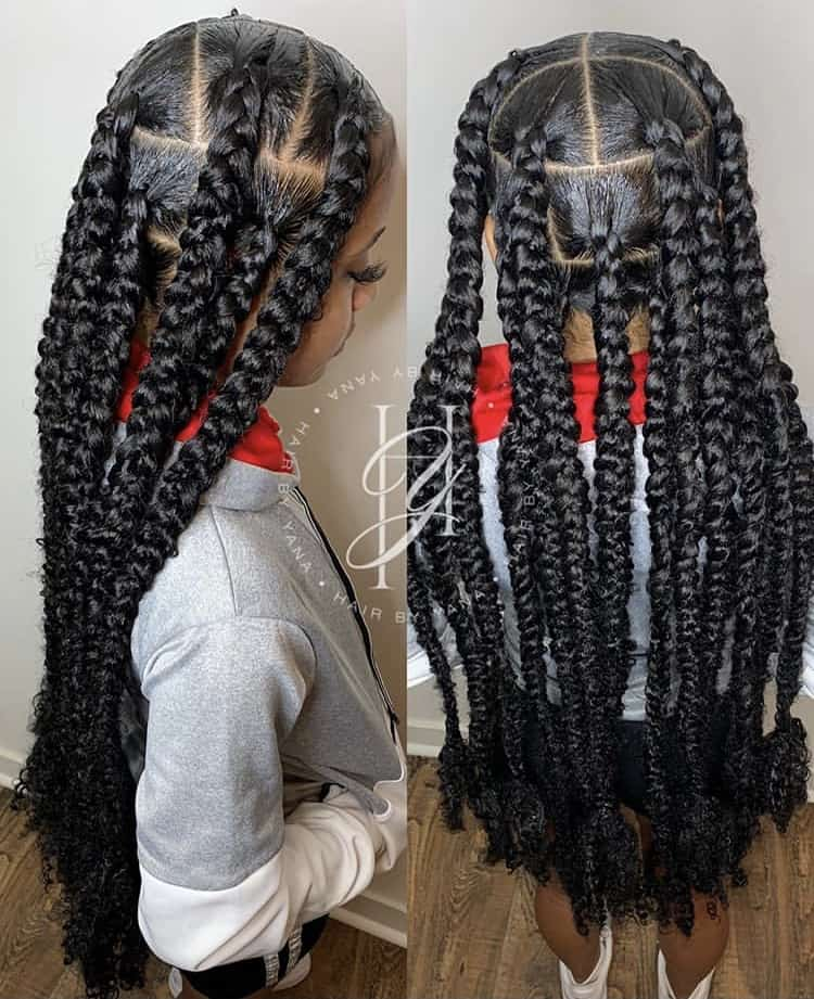 Extra long knotless passion braids