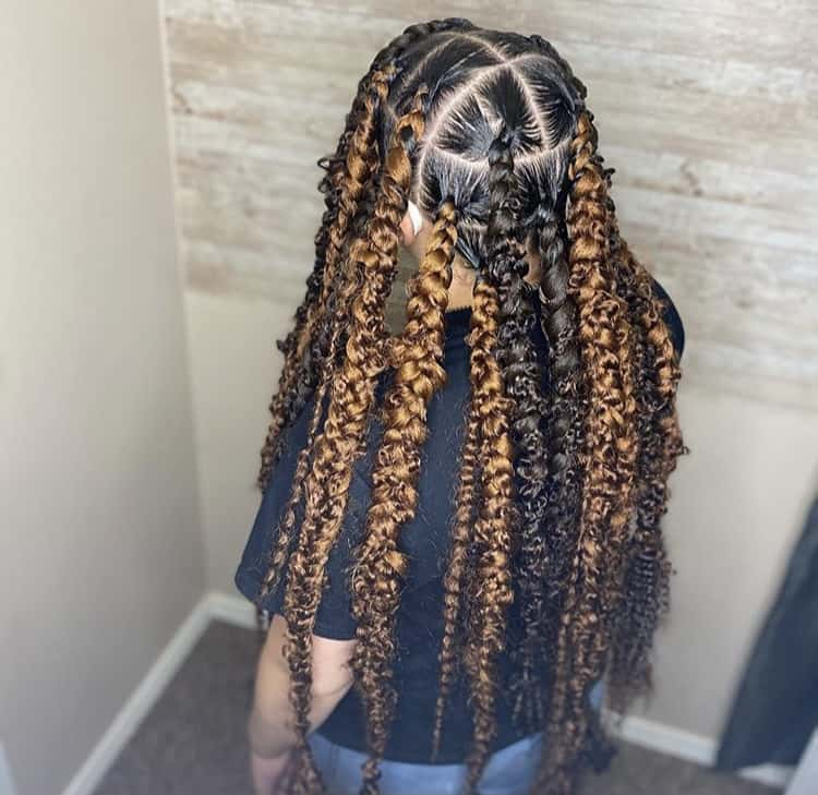 Two tone passion braids