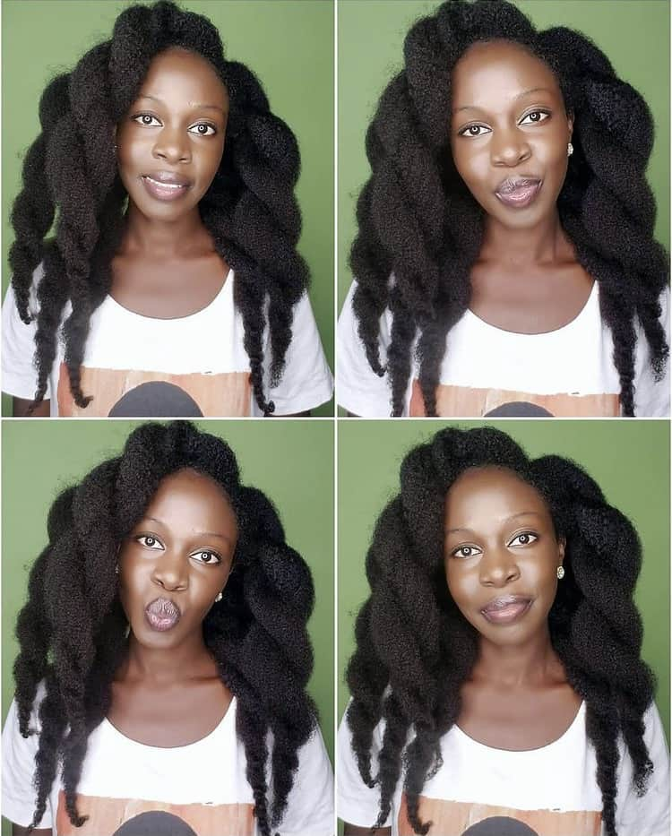 Thick twists Long 4c hair hairstyles