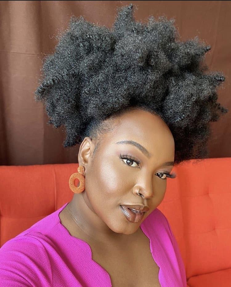 4c hair natural hair puff hairstyles