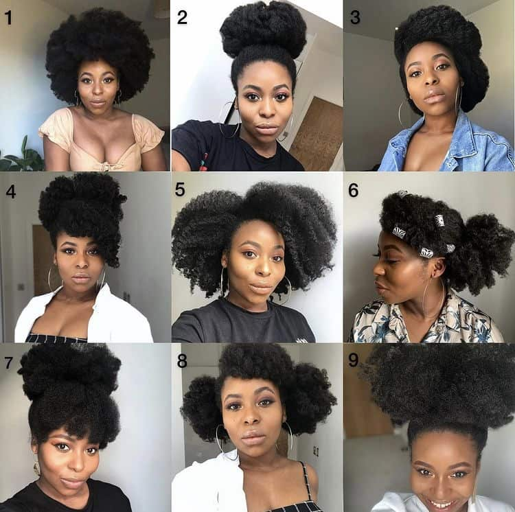 Easy, quick and cute 4c hair hairstyles